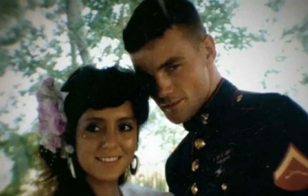 John Wayne Bobbitt e Lorena Bobbitt na festa de casamento.
